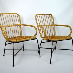Bamboo Chairs For Sale How To Make A Chair Cover Without Sewing 1970s Set Of 2 At Pamono