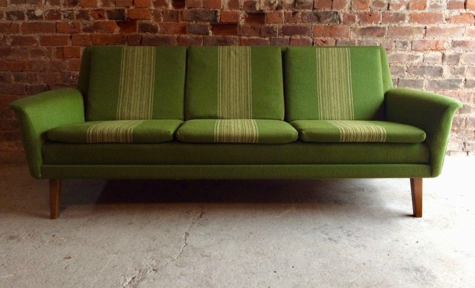 Mid Century Three Seater Sofa By Folke Ohlsson For Fritz Hansen