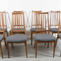 Z Shaped High Chair Metal Arm Covers Vintage Danish Back Dining Chairs Set Of 8 For Sale
