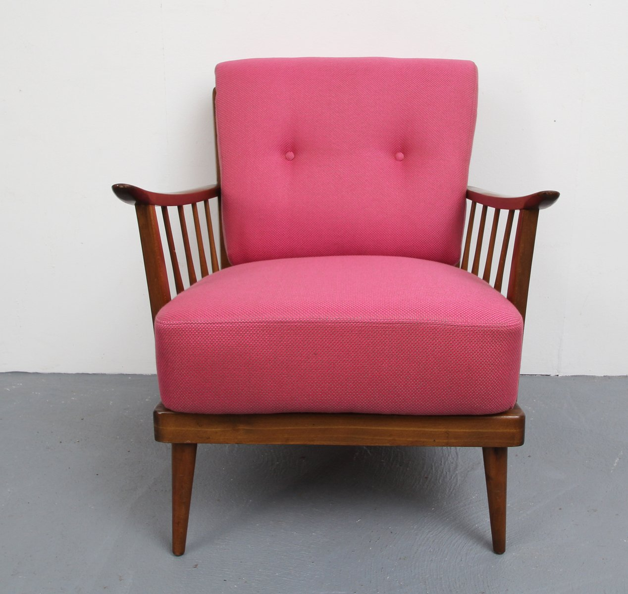 pink arm chair weatherproof adirondack chairs armchair 1950s for sale at pamono