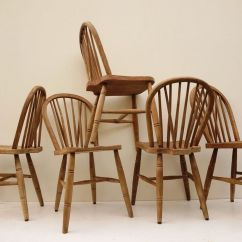Windsor Back Chairs For Sale Inglesina Table Chair Tray Vintage Bow Set Of 5 At Pamono