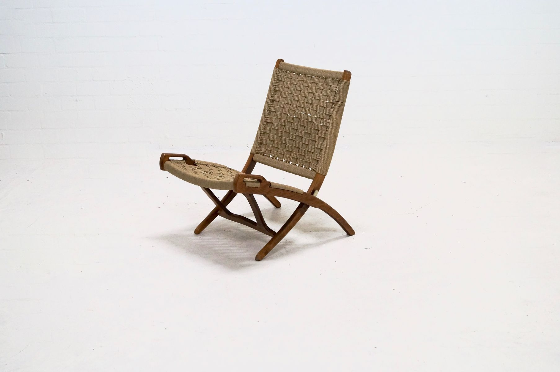folding z chair oak ladder back dining chairs rope by ebert wels 1960s for sale at pamono