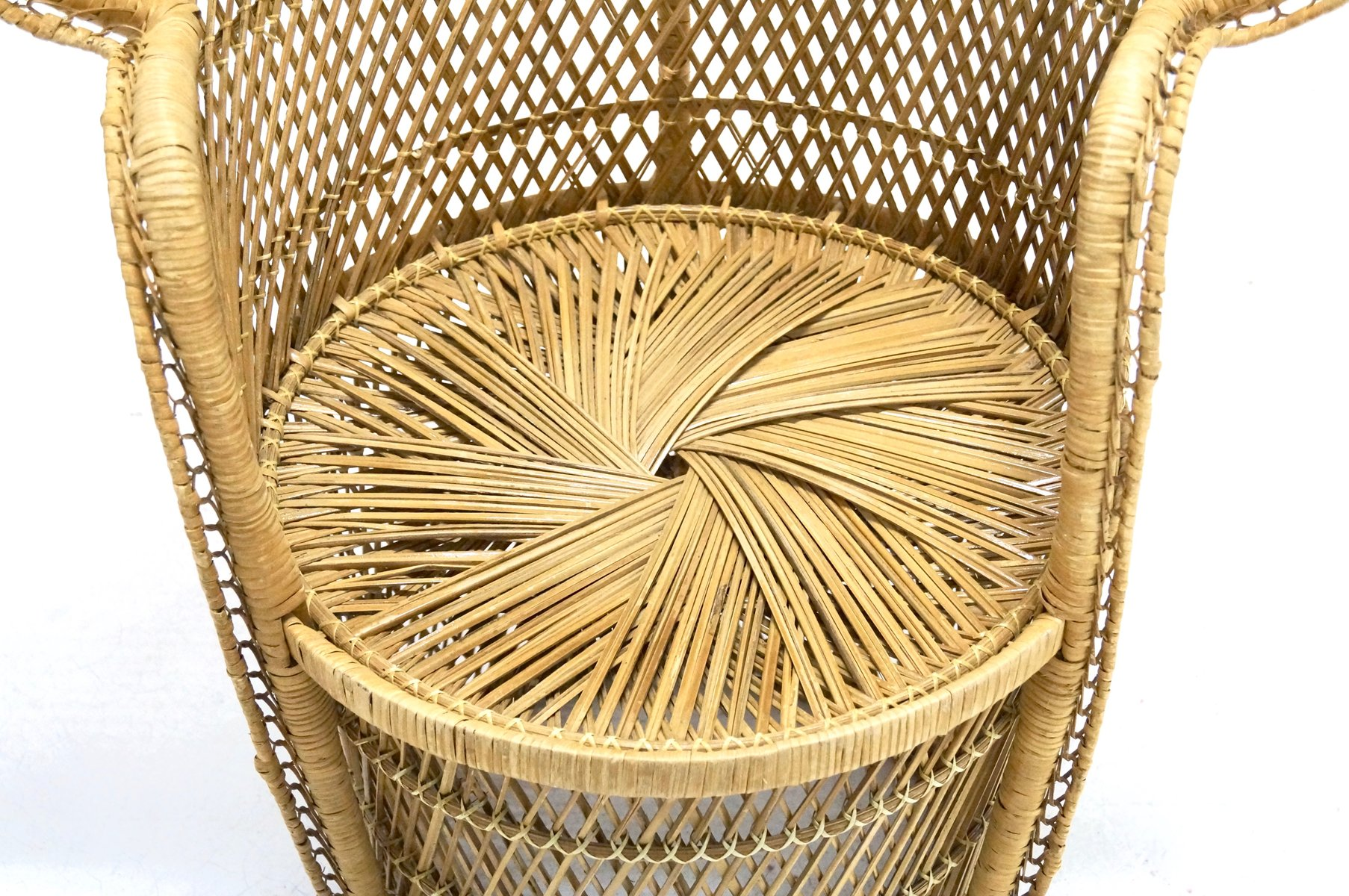 large wicker chair lazy boy sleeper peacock 1970s for sale at pamono