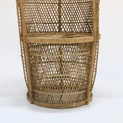 Large Wicker Chair Ikea Nils Covers Uk Peacock 1970s For Sale At Pamono
