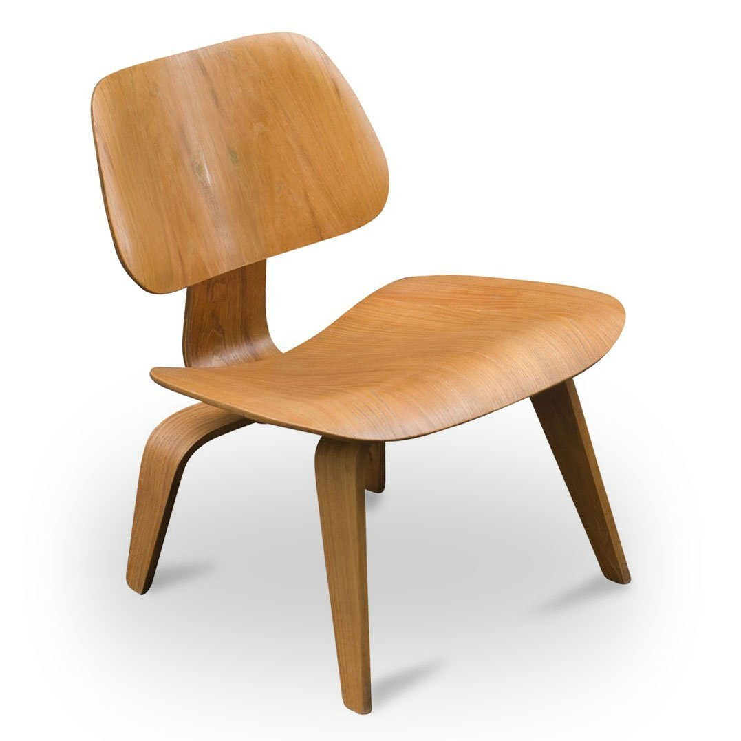 eames lcw chair queen ann chairs vintage oak by charles and ray for herman