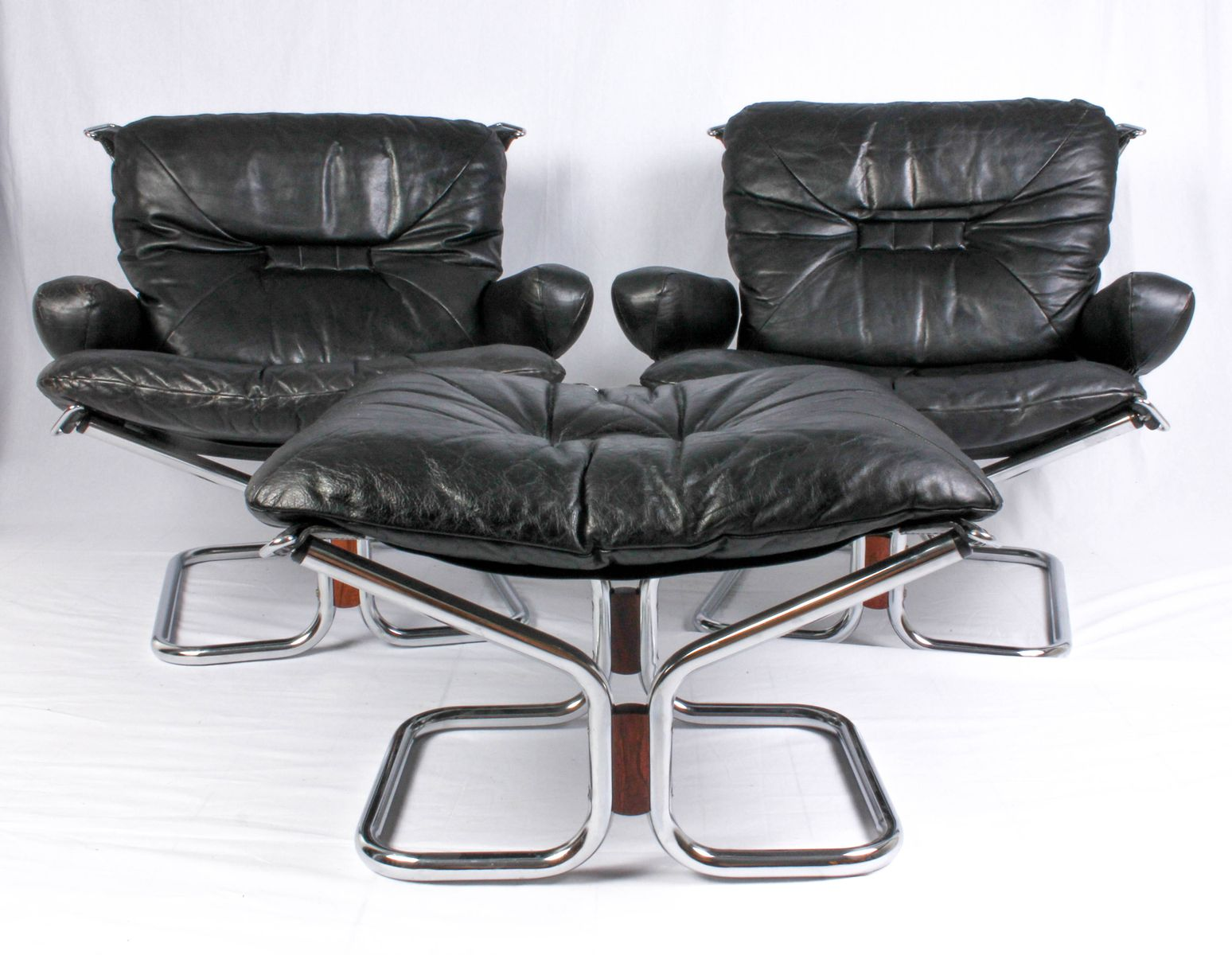 Chairs With Ottoman Mid Century Lounge Chairs Ottoman By Ingmar Relling 1950s