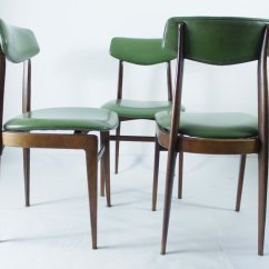 Set Of Six Dining Chairs For Sale Babybjorn Potty Chair Green 1950s 6 At Pamono