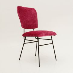 Velvet Armchair Pink Metal Step Stool Chair Italian 1950s For Sale At Pamono