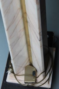 Marble and Brass Floor Lamp, 1970s for sale at Pamono