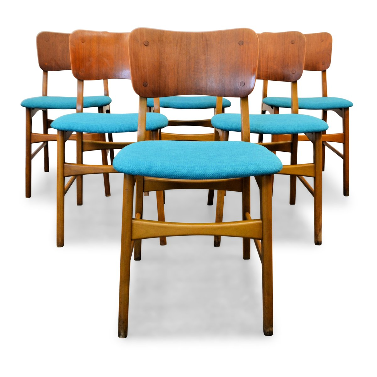 Danish Teak Dining Chairs Vintage Danish Teak And Beech Dining Chairs From Boltinge