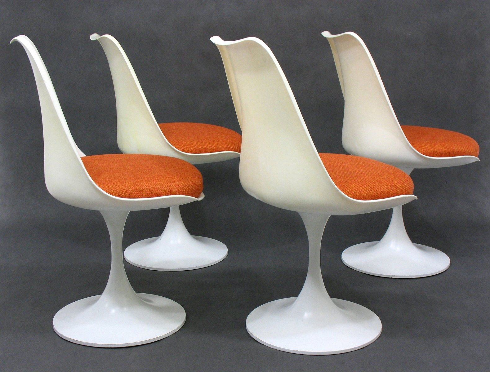 white dining chairs set of 4 wheelchair bag mid century space age german plastic