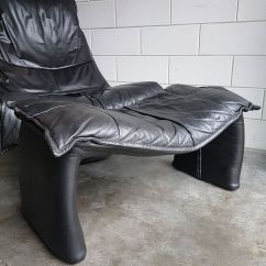Black Leather Swivel Lounge Chair Evenflo Quatore 4 In 1 High Vintage Large With