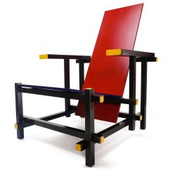 Gerrit Thomas Rietveld Chair Ergonomic Gold Coast Red And Blue By For Cassina