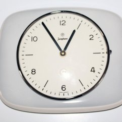 Kitchen Clocks For Sale Cabinet Design Online Porcelain Clock From Junghans 1960s At