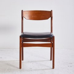 Teak Dining Room Chairs For Sale Wedding Chair Covers Leicester 1960s At Pamono