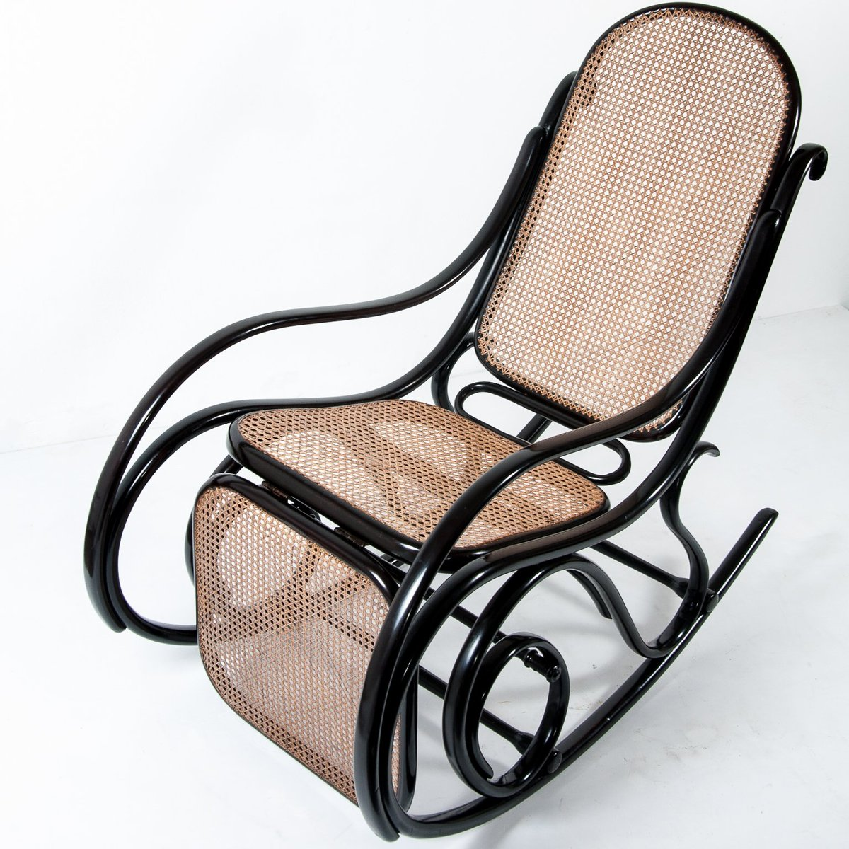 rocking chair footrest blue bay hats antique no 10 with from thonet for