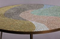 Mid-Century Round Mosaic Coffee Table by Berthold Muller ...