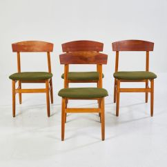Green Upholstered Dining Chairs Leather Club Chair With Ottoman Teak Upholstery 1960s For Sale At