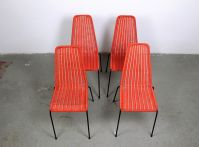 Mid-Century Italian Woven Outdoor Chairs, Set of 4 for ...