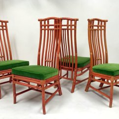 Green Dining Chairs Uk With Storage Vintage Red Bamboo And Velvet From