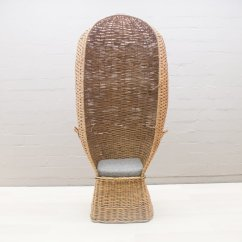 Antique Beach Chair Leather Bean Bag Vintage Rattan 1960s For Sale At Pamono
