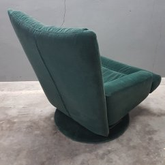 Green Velvet Swivel Chair Cheap White Covers With Ottoman From Rolf Benz