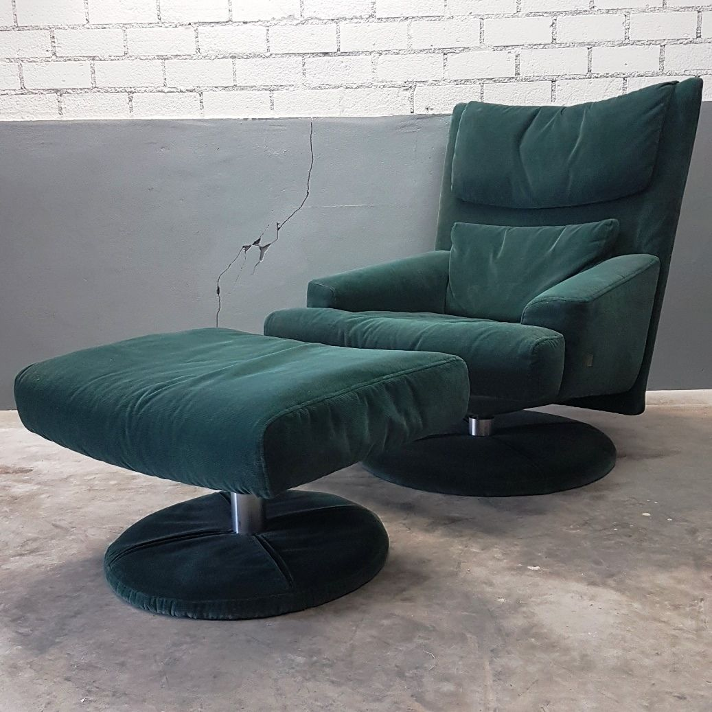 green velvet swivel chair painted table and chairs images with ottoman from rolf benz