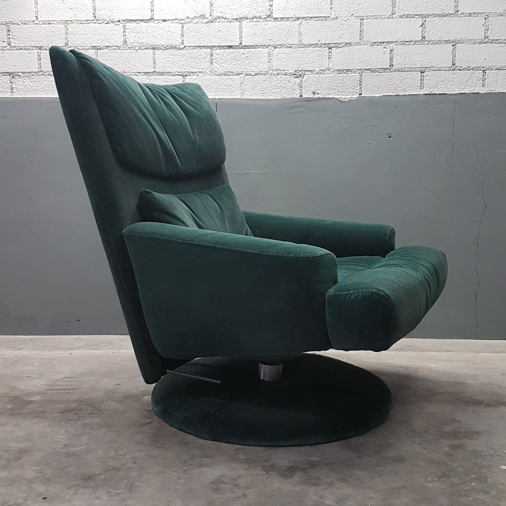 green velvet swivel chair hanging tj maxx with ottoman from rolf benz