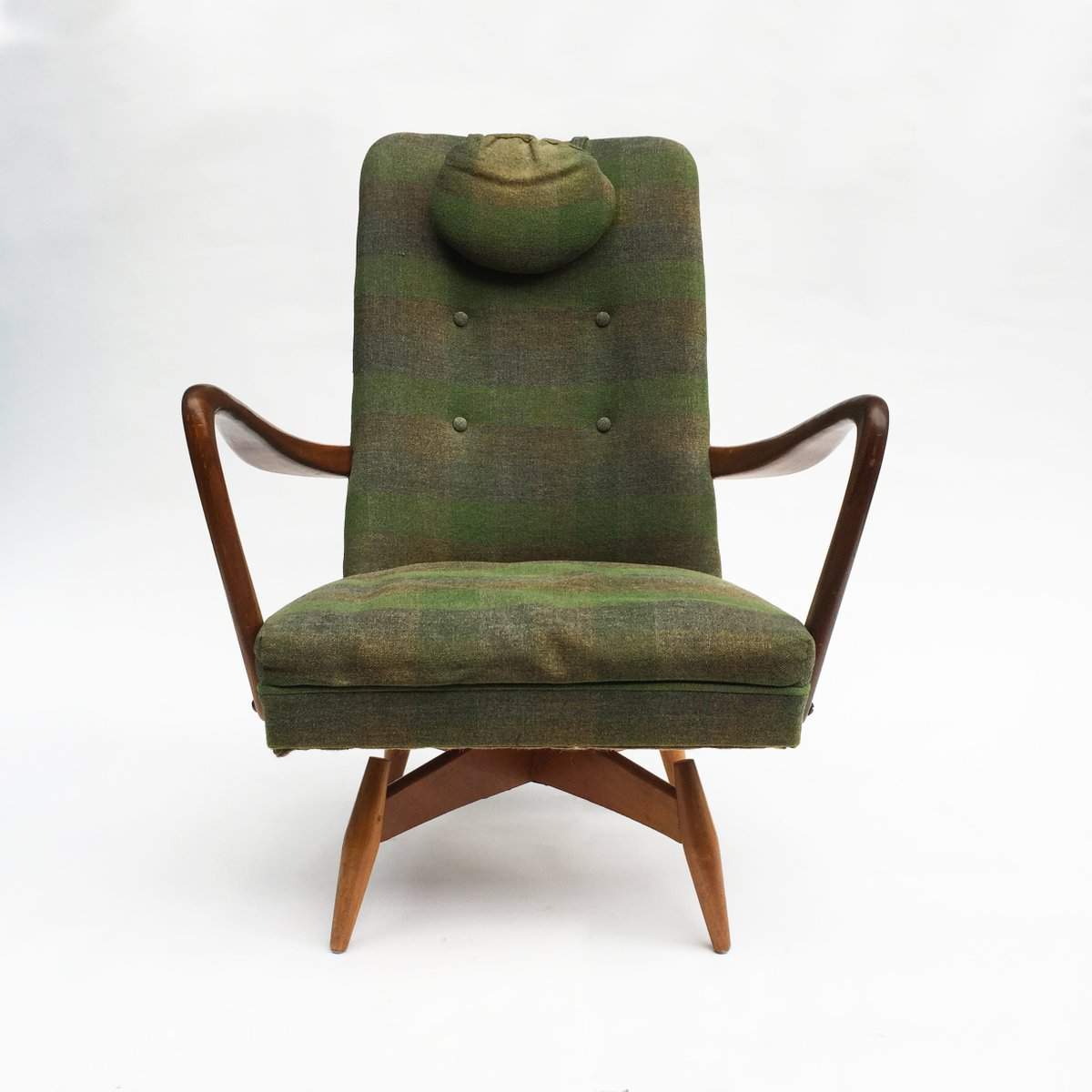 swivel chair mid century poker table and chairs set danish 1950s for sale at pamono