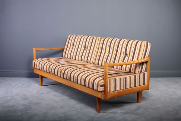 Extendable Oak Daybed Sofa 1960s Pamono