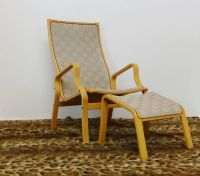 Swedish Lounge Chair & Ottoman, 1960s for sale at Pamono