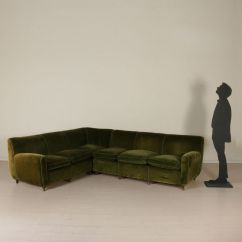Duck Feather Corner Sofa Simmons Sectional Sleeper Vintage Italian With Cushions For Sale