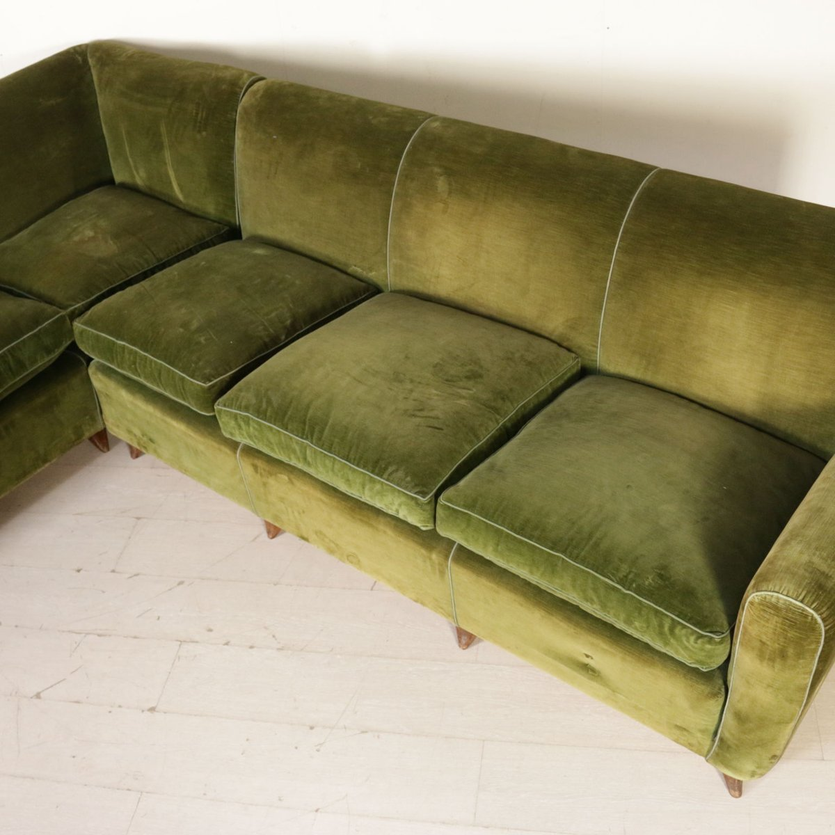 duck feather corner sofa rattan sofas vintage italian with cushions for sale