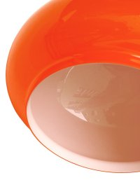 Orange Glass Ceiling Lamp, 1970s en vente sur Pamono