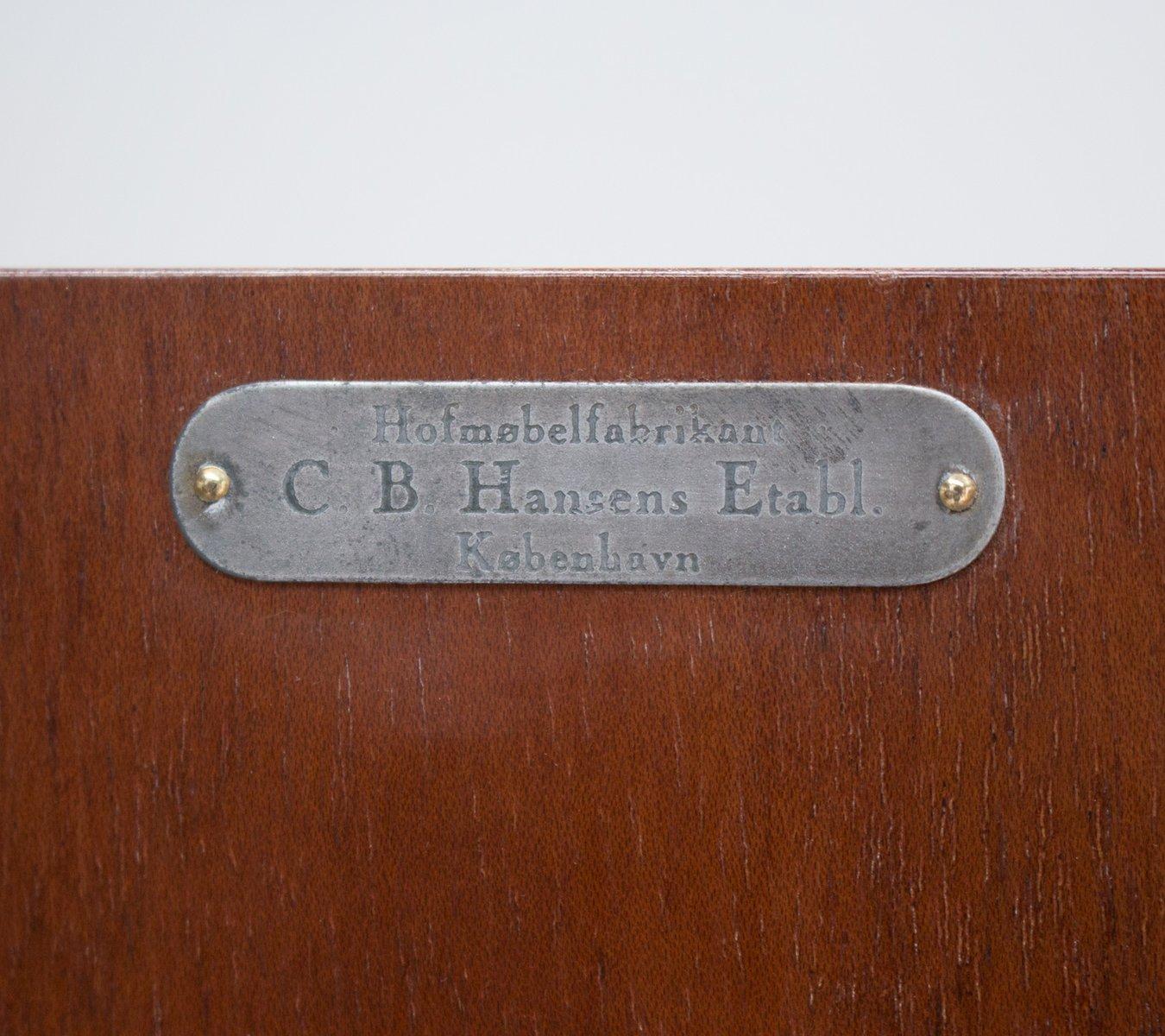 Vintage Mahogany Linen Cabinet by CB Hansen bei Pamono kaufen