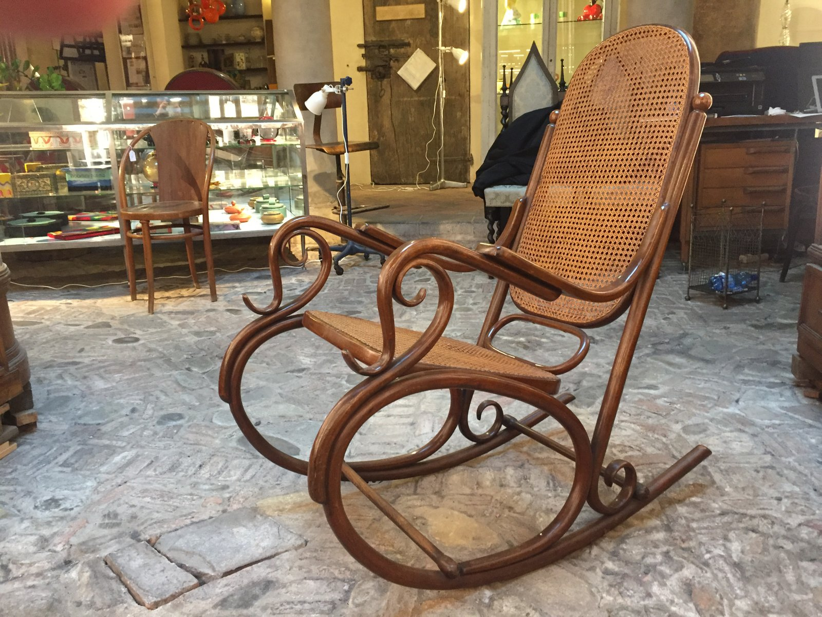 antique rocking chair price guide orla kiely from thonet for sale at pamono