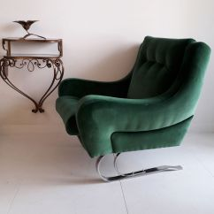Emerald Green Velvet Chair Oak Dining Table And Chairs Gumtree French Cantilever Lounge