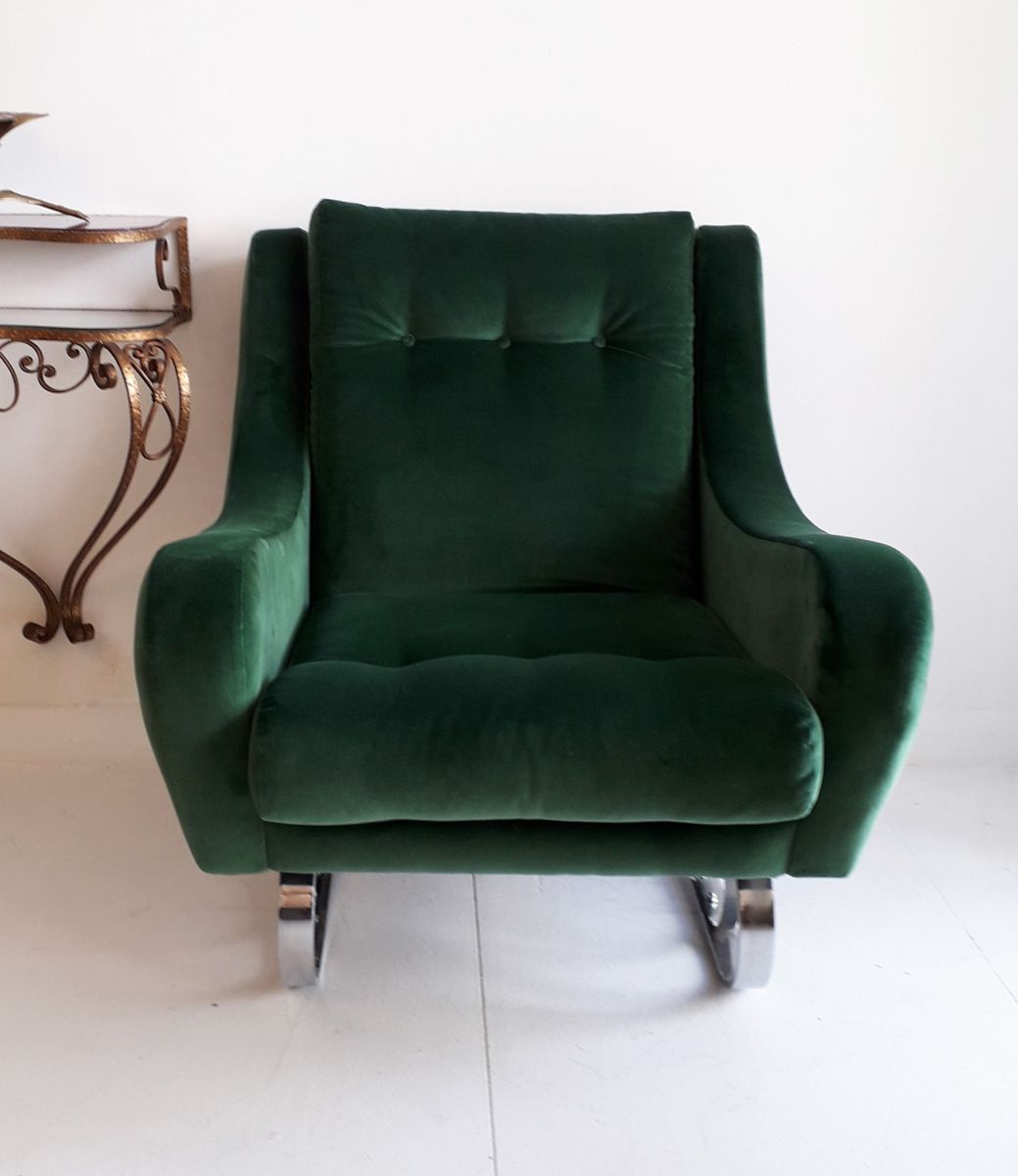 emerald green velvet chair stokke tripp trapp high complete 4 piece bundle french cantilever lounge chairs