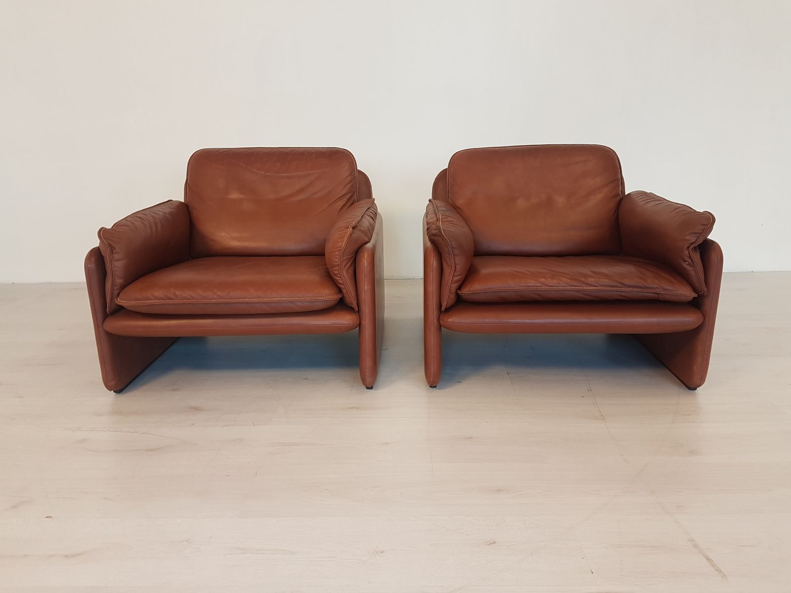 Chairs With Ottoman Two Ds 61 Lounge Chairs Ottoman From De Sede 1970s