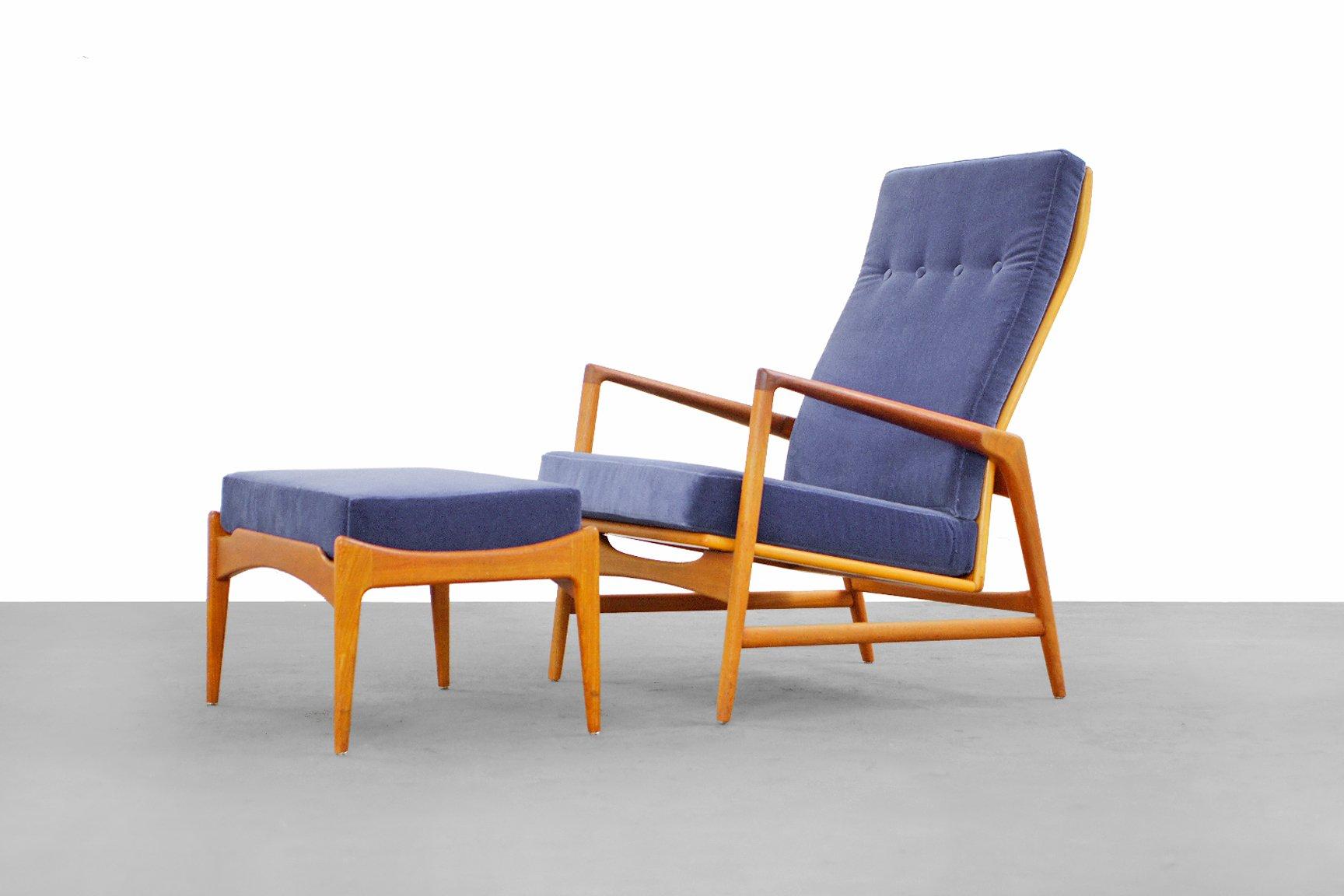 modern lounge chair and ottoman set swing history danish by ib kofod larsen