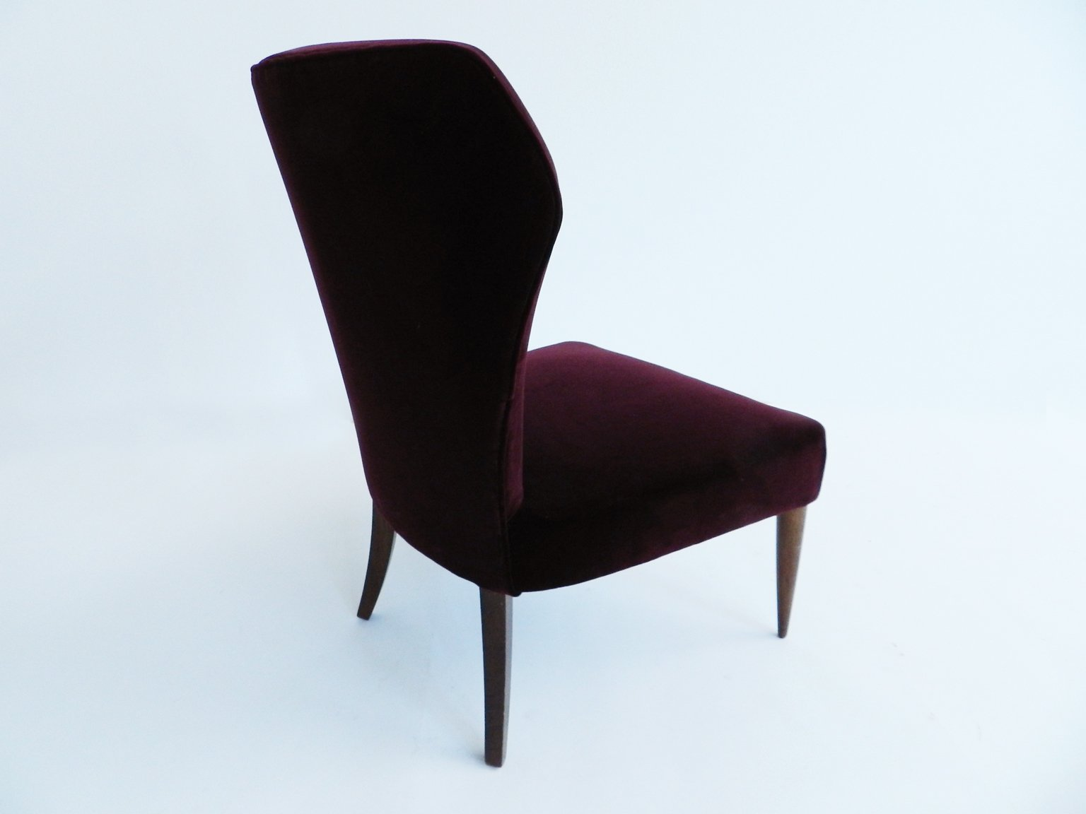 Velvet Club Chair Small Vintage Italian Velvet Club Chair For Sale At Pamono