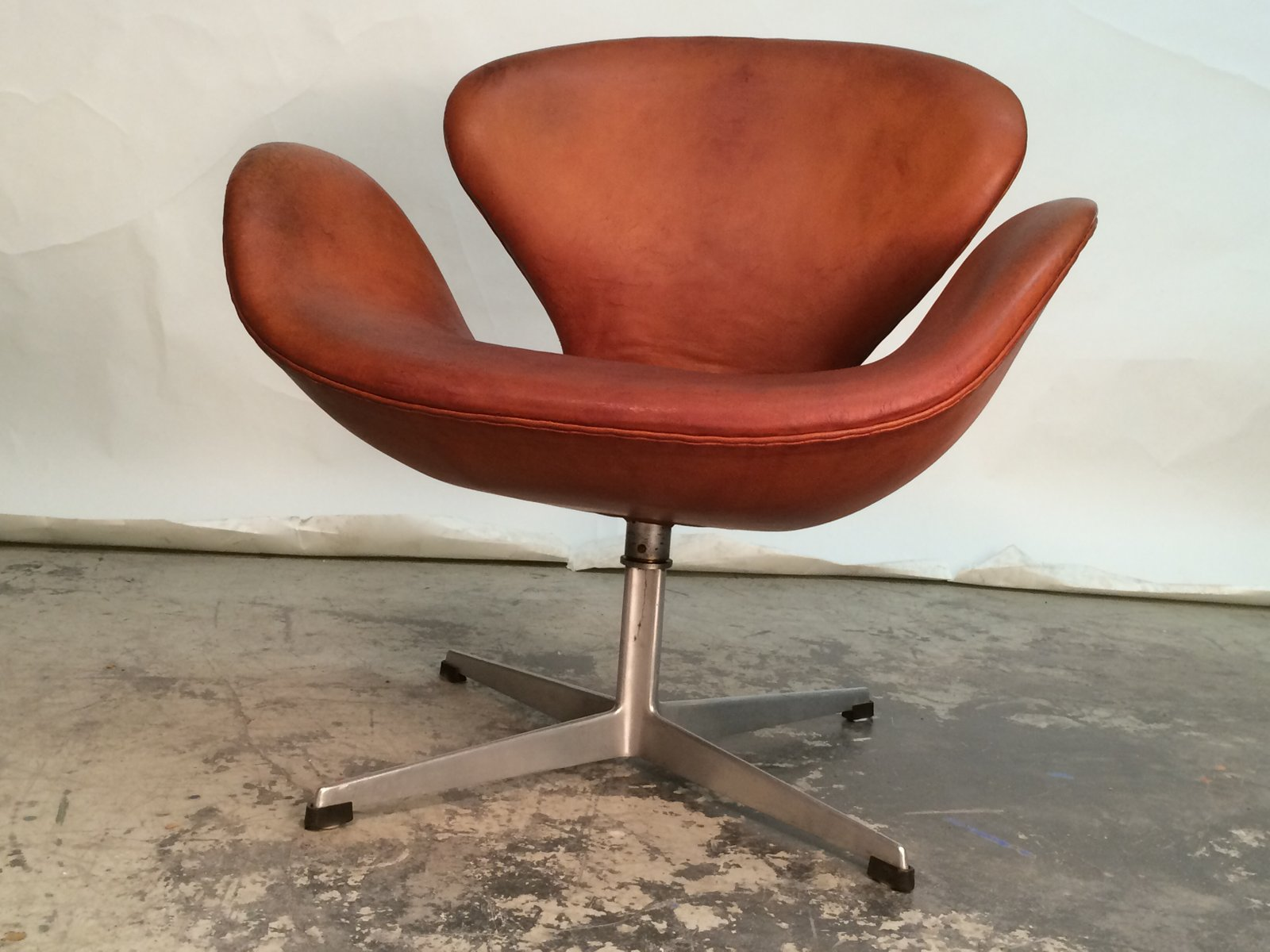 vintage egg chair custom dining room covers swan by arne jacobsen for fritz hansen, 1960 sale at pamono