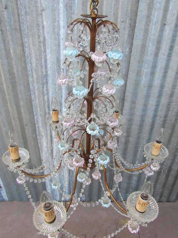 Italian Murano Glass Amp Crystal Chandelier For Sale At Pamono