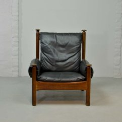 Chair Design Scandinavian Bedroom No Arms Black Leather Lounge 1960s For Sale At