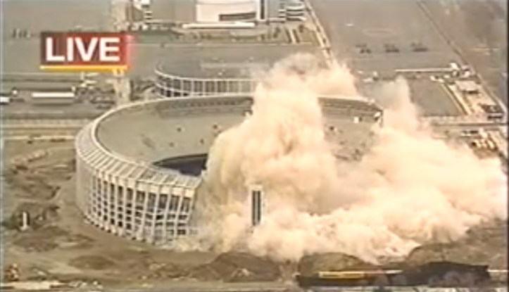 Image result for picture of stadium implosion