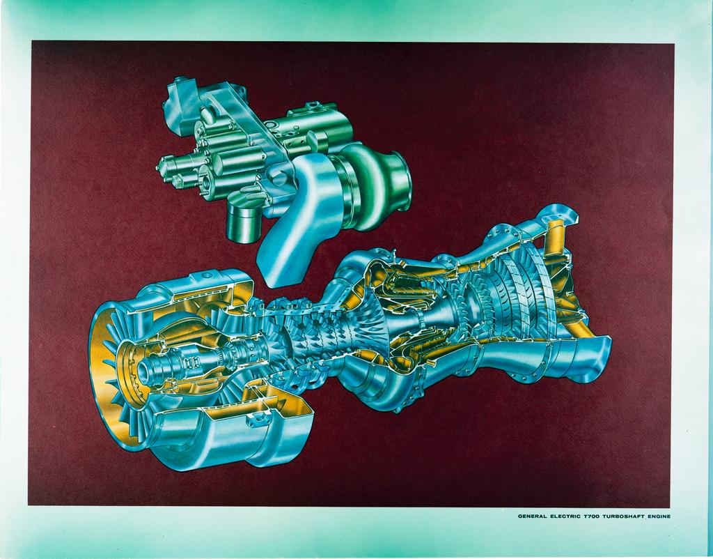 hight resolution of general electric ge t700 turboshaft engine