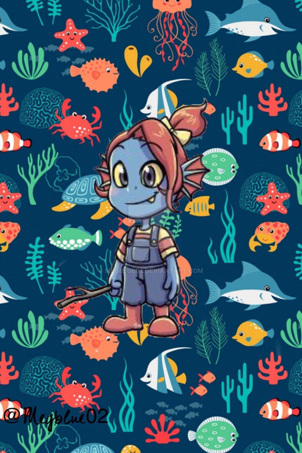 Cute Cartoon Wallpaper Pc Cute Little Undyne Undertale Wallpaper Undertaleundyne