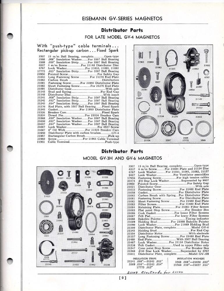 Eisemann GV Series Magnetos Service and Parts Manual