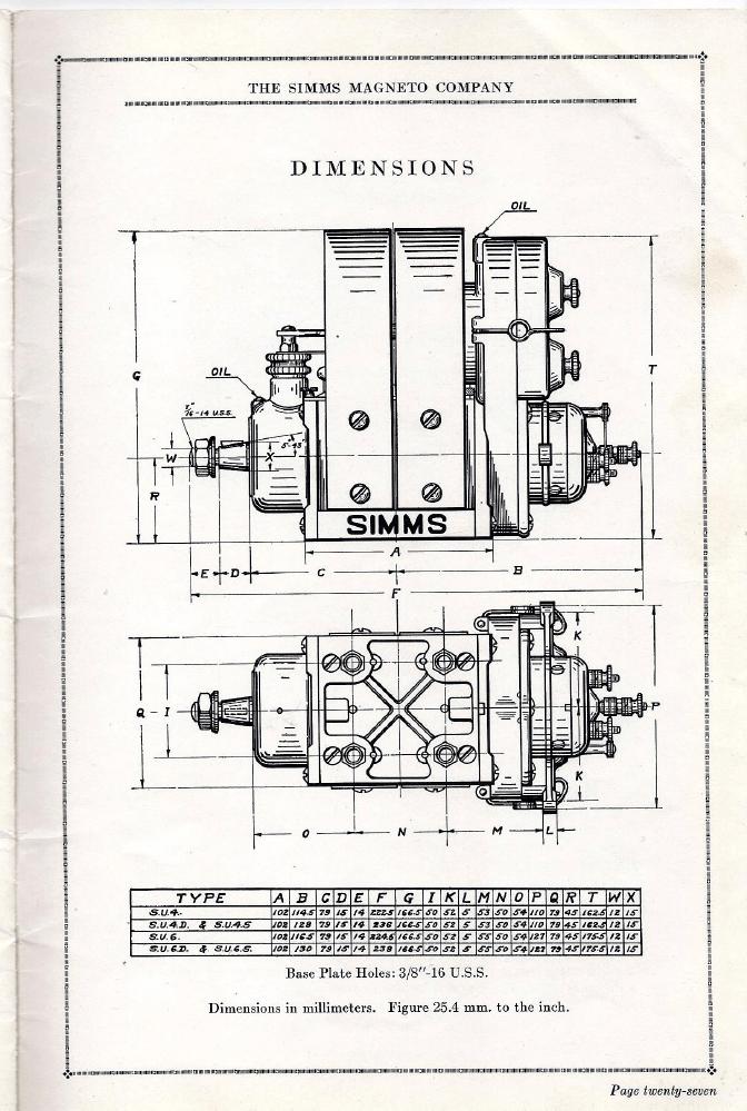 Simms High Tension Magneto Catalog 1917