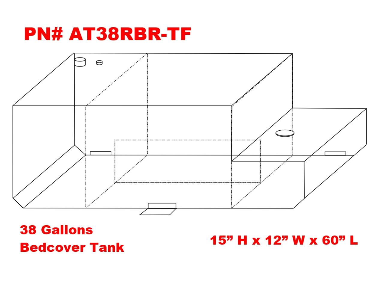 hight resolution of at38rbr tf dot legal transfer tank pn at38rbr tf 38 gallon